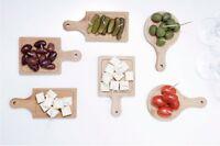 Kikkerland Mini Serving Trays set of 6 Bamboo Mini cutting board shape PM18