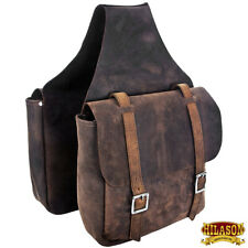 Leather Horse Saddle Bag Leather Chap For Trail Hilason U-G166
