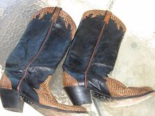 Tony Alamo leather & cobra skin boots Cowboy, Western Shoe Size (Men's) 9 1/2