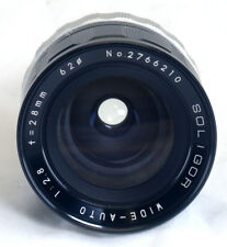Minolta MD SOLIGOR Wide-Auto f/2.8 28mm Vintage Lens for SLR Camera Japan