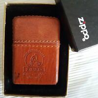 Mechero Zippo Leather Cuero Piel 10th Anniversary 1932-1942 Rare Vintage Unique