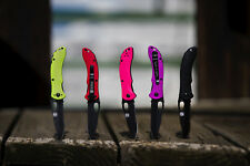 Noble Equestrian Viper Knife Part Serrated Blade with Removable Clip All Colors