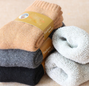 3 Pairs Mens Wool Cashmere Warm & Soft Comfort Large Winter Thick Dress Socks