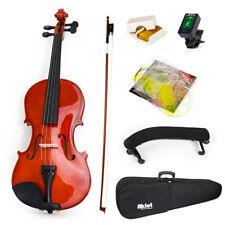 Violin 4/4 Natural Acoustic Fiddle Bow Shoulder Rest Tuner Musical Instruments