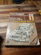 VW Rabbit Golf Jetta Pick-Up Scirocco 1975-1992 Haynes Auto Repair Manual poorer