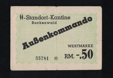 WW2 GERMANY 1944 BUCHENWALD 0.5 RM KL PRAMIENSCHEIN CONCENTRATION CAMP GHETTO RR