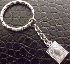Keyring with Silver Plated Mini Photo Locket