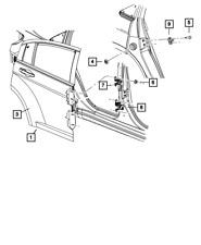Genuine MOPAR Door Hinge Left 55360919AK