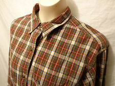 Abercrombie & Finch Burgundy Plaid Button Down Long Sleeve Shirt M