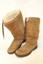 UGG Australia Womens 11 Ultimate Tall Suede Shearling Drawstring Boots 5250 :rm