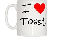 I Love Corazón Toast Taza
