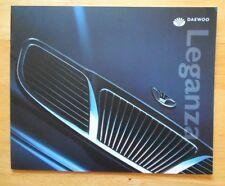 DAEWOO Leganza range orig 2001 UK Market larger format sales brochure