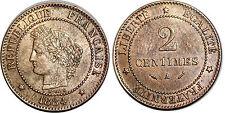 3 EME REPUBLIQUE 2 CENTIMES CERES 1884 A