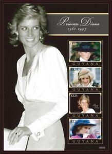 Guyana - 2010 - Princess Diana - Sheet Of 4 - MNH