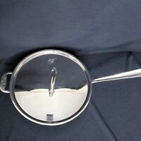 All Clad 3-Quart Saute Pan with Lid Tri-Ply Stainless-Steel Mint