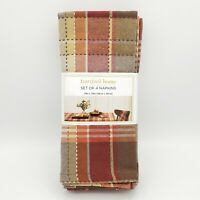 "NEW Bardwil Home Canterbury Autumn / Fall Harvest Napkins - 19"" x 19"" Set of 4"
