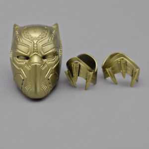 Hottoys 1/6 Scale Golden Black Panther Helmet Bracer Model