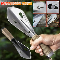 Stainless Steel Multifunction Shovel Portable Trowel Garden Camping Hiking Rule