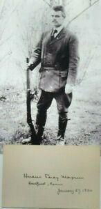 Hiram P. Maxim Inventor Firearm Silencer & Radio & Automotive Pioneer Autograph