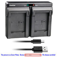 Kastar Battery Dual Charger for Olympus Li-10B Li-12B Li-10C Stylus 500 Digital