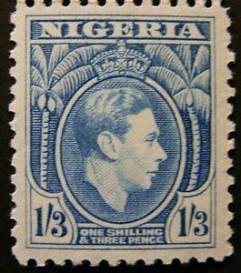 NIGERIA 1950-51 SG57a. KGVI 1/-3d. LIGHT BLUE PERF 11½ -  MNH
