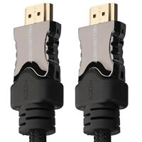 Braided 3ft 6ft 10ft 15ft 25ft 30ft 50ft 66ft HDMI Cable Lot (2.1/2.0/a/b/1.4)