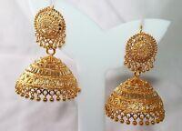 Goldplated Indian Bollywood Women Jhumka Earring Traditional Ethnic Jewellery