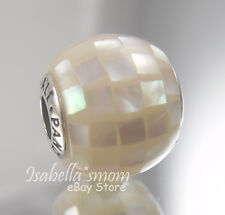 GENEROSITY ESSENCE Authentic PANDORA Silver/WHITE PEARL MOSAIC Charm/Bead NEW
