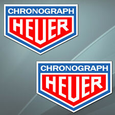 2 Vinyl Stickers Decal Auto TAG Heuer Chronograph Rally Racing Car Ferrari B 32