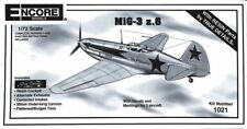 Encore 1:72 MiG-3 z.6 w/ Resin Parts by True Details Plastic Model Kit #1021