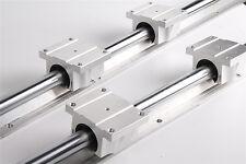 2 Set TBR16-400mm Fully Supported Linear Rail Shaft Rod with 4 TBR16UU XYZ