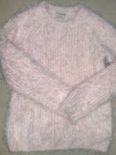 "NEXT ""d' hiver Knits's rose clair Tricot Moelleux Pull Taille 7-8 ans EXCELLENT Co"