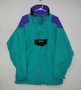 Vintage COLUMBIA Jacket Men's Medium Side Zip Pullover Anorak Snowboard  Large