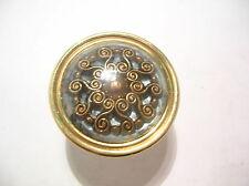P-A03-005 diam35 h27  POMOLO RESTAURO MOBILE  brass old style vintage