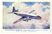 1950s TAA Trans Australia Airlines Vickers*Armstrong Viscount 720 Postcard