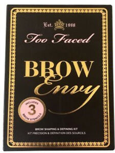 TOO FACED brow Envy brow shaping defing kit 3 brow stencils