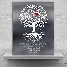(LT-1371) Personalized 10 Year Anniversary Personalized Family Minimalist Tin...