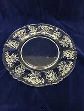 """Heisey Glass Rosalie etched 8"""" salad plate"""