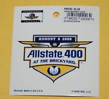 Nascar Brickyard Allstate 400 Event Logo Decal 2006 NEW