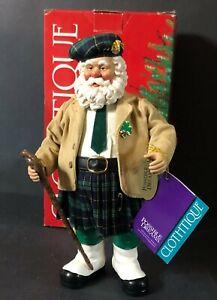 Possible Dreams Clothtique Shillelagh Santa Figurine Tartan Kilt Irish Ireland