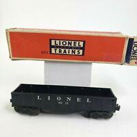 LIONEL Postwar 6012 Lionel Gondola Car Black, O
