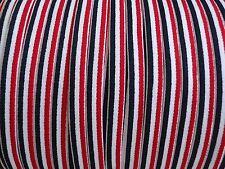 """3/8"""" Shoulder Strap Stripe Elastic Red White Navy Garter Swimsuit  5 yds #K26"""