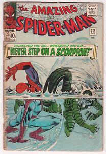 Amazing Spider-Man #29 Good 2.0 The Scorpion Stan Lee Steve Ditko Art 1965