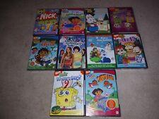 New - x10 Nickelodeon Nick Jr (Dvd, 2009) Sponge Bob, Dora Explorer, Blue's Clue