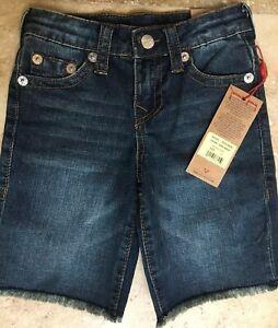 NWT TRUE RELIGION Boys Cut-Off Shorts ASSRTD SIZES 5-16, Styles & Colors $69-$99