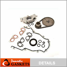 Timing Chain Kit Cover Gasket Oil Pump for 97-04 Cadillac Chevrolet 4.8 5.3 6.0