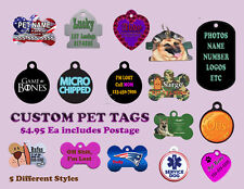 Custom Printed Aluminum Pet / Dog Tags