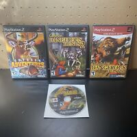 4 Game Lot-Cabela's Dangerous Hunts 1 & 2,Outdoor Advent(PS2 Sony PlayStation 2)