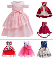 Kids Flower Girl Dress Birthday Wedding Dress Party Gown Pageant Tutu Dresses