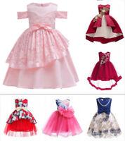 Kids Flower Girl Dress Birthday Wedding Dress Party Gown Pageant Tutu Dresses